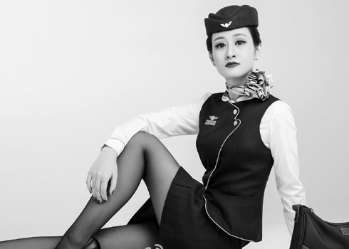 黑白照片风-海航制服照大片一赏