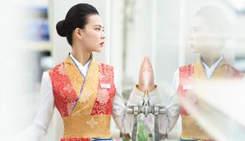 西藏航空制服照欣赏