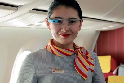 海南航空【北京=圣何塞】谷歌眼镜展示视频