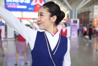 """南航吉林分公司空姐""""五四""""青年节快闪活动"""